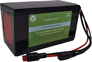 Aegis Battery 24V 10Ah Rechargeable High-energy Li-ion Battery (PVC) with BMS system for e-scooters, e-bikes, solar applications, robots