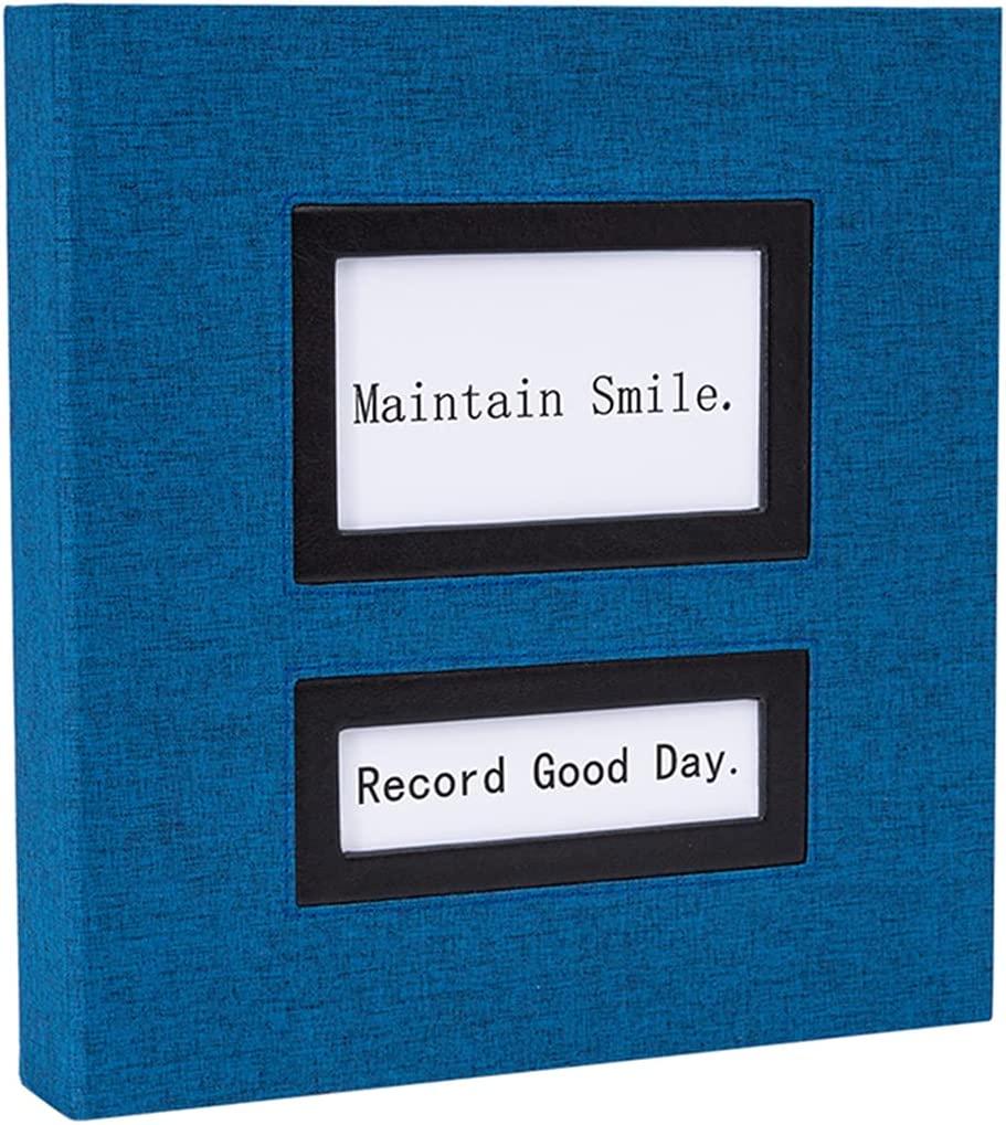 Photo Album 4x6 600 Holds Black Pockets Linen Extra Cloth Special price excellence Pages