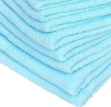 WKG 泉州製 フェイスタオル 10枚セット 日本製 綿100% ソフトタオル 無地 (空色)