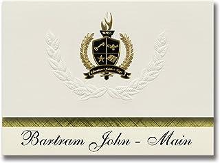 Signature Ankündigungen Bartram John – Main (Philadelphia, PA) Graduation Ankündigungen, Presidential Stil, Elite Paket 25 Stück mit Gold & Schwarz Metallic Folie Dichtung B078VFBND6  Internationale Wahl