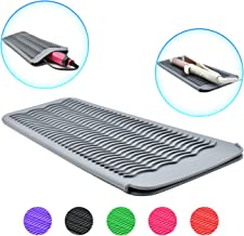 EIOKIT Silicone Heat Resistant Travel Mat Pouch for Hair Straightener,Crimping Iron,Hair Curling Iron,Hair Curling Wand,Flat Iron,Hair Waving Iron and Hot Hair Styling Tools (Grey)