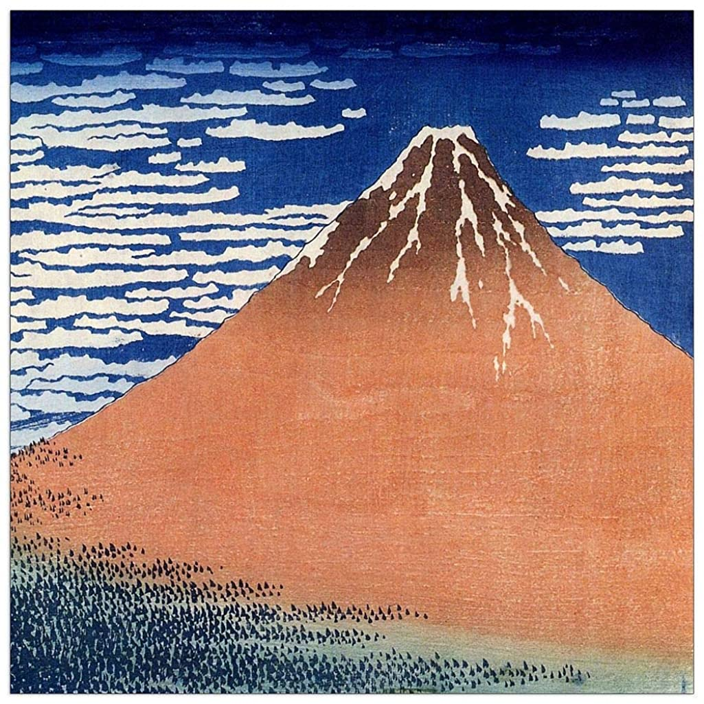 ArtPlaza TW90082 Hokusai Katsushika - Mount Fuji Decorative Panel 15.5x15.5 Inch Multicolored