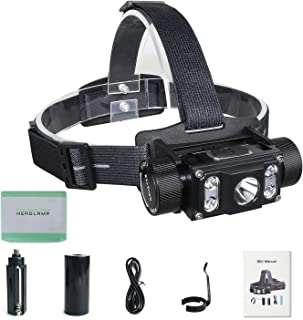 Wurkkos 1380 Lumen Headlamp with XM-L2+4XP-G2 LED Max.6000LM Waterproof Headlight TYPE-C Rechargeable 21700 Head Torch for...