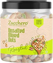Zucchero Roasted Premium Mixed Nuts, Unsalted, 200g (California Almond, Cashew, Premium Peanuts, Pistachio)