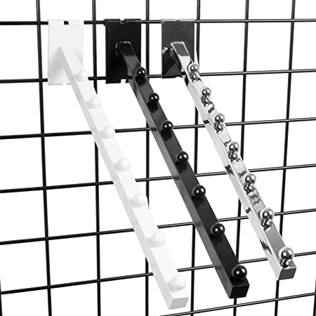 5 Pack 18 L Chrome 7 Ball Wall Mount Waterfall Square Tube Faceout Hook