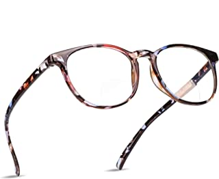 LifeArt Bifocal Reading Glasses with Round Lenses,Blue Light Blocking Glasses for Women+1.75 Magnification