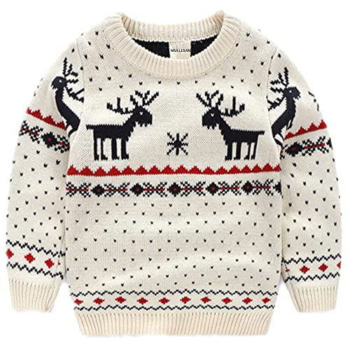 Childrens Love Moose Sweater Baby Boys Pullover Sweaters