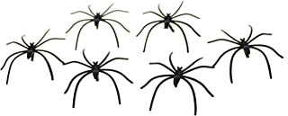 Bilipala Scary Plastic Spiders Small Fake Spider Joke Toys for Prank, Pack of 20