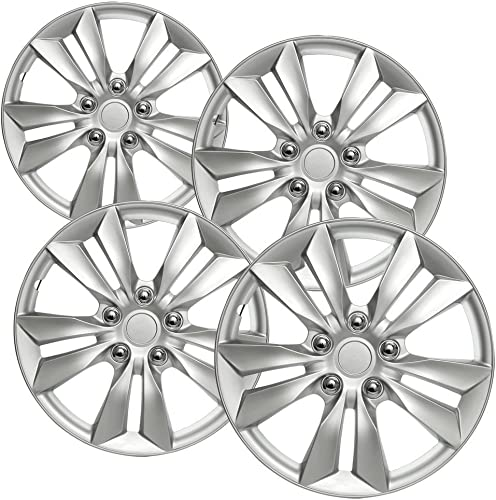 new arrival Hub-caps for discount 02-08 Jaguar X-Type (Pack online sale of 4) Wheel Covers 16 inch Snap On Silver online sale