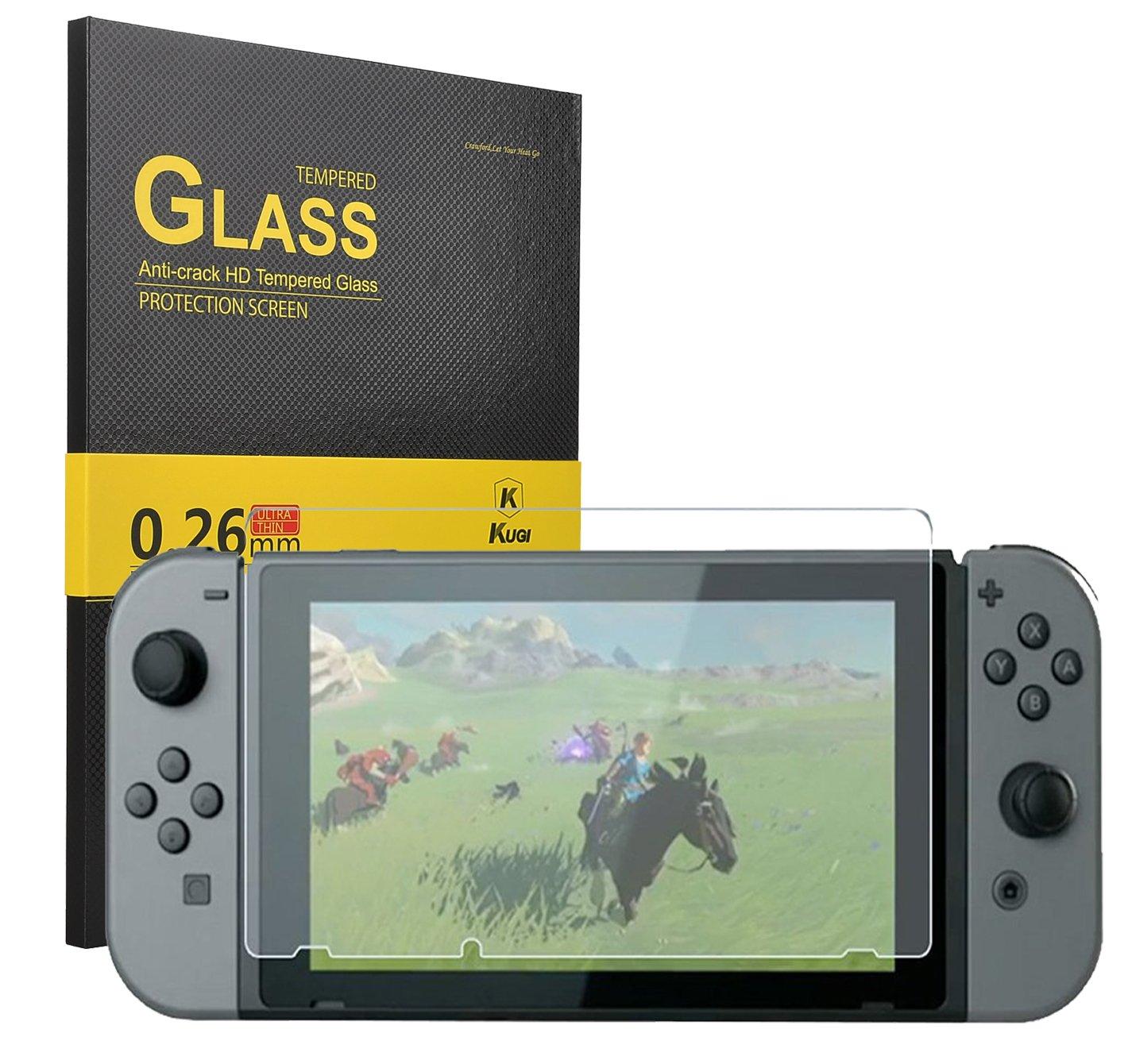 KuGi Nintendo Switch Protector de Pantalla, Nintendo Switch Protector de Pantalla- [1 Pack ] Protector de Pantalla dureza 9H HD Clara de Cristal Templado para Nintendo Switch.: Amazon.es: Electrónica