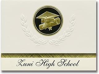 Signature Announcements Zuni High School (Zuni, NM) Graduation Announcements, Presidential style, Basic package of 25 Cap...