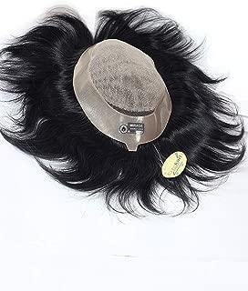 RITZKART DOUBLE LAYER MIRAGE ORIGINAL 100% REMY HUMAN HAIR PATCH MEN TOUPEE, FEEL NATURAL HAIR LINE 8x6