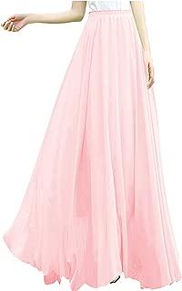 plus size pink maxi skirt