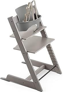 Stokke 2019 Tripp Trapp High Chair, Includes Baby Set, Oak Greywash