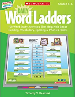 Interactive Whiteboard Activities: Daily Word Ladders Grades 4-6: 100 Word Study Activities That Help Kids Boost Reading, ...