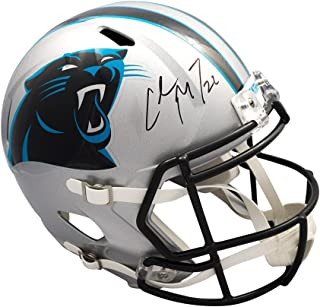 Christian McCaffrey Autographed Panthers Speed Full-Size Football Helmet JSA COA