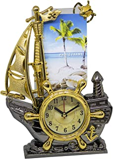 Baal Desk Table Clock with Photo Frame for Home Living Room Bedroom Décor Item Pack of 1