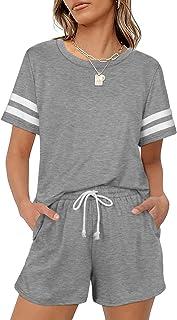 2 Piece Loungewear for Women Short Sleeve Sweatsuit Sets...
