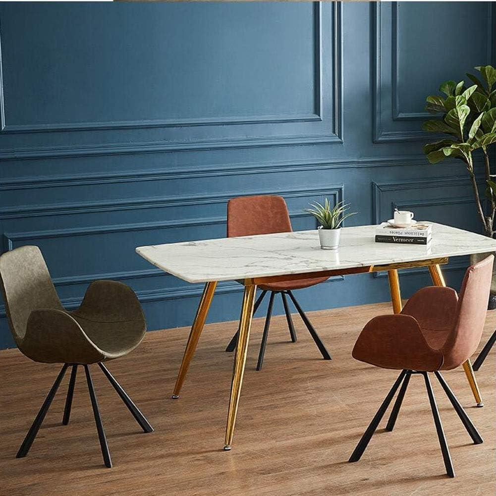 DALL Chaise De Salle À Manger Maison De Mode Chaise De Maquillage Coussin PU Chaise De Dossier Jambes en Métal Chaise De Café Assemblée (Color : T4) T3