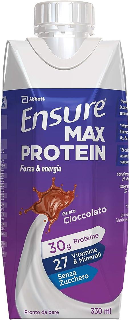 Bevanda proteica con proteine e 27 vitamine e minerali, confezione 8 x 330 ml, gusto cioccolato 666899