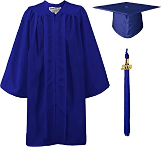 Matte Kindergarten Graduation Gown Cap Set with 2019 Tassel