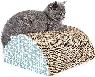 猫用爪とぎ 半円型 ネコの爪とぎ 高密度 耐久 ベッド型 ソファ 爪磨き キャット 爪磨き 家具傷防止 運動不足改善 ストレス解消猫おもちゃ