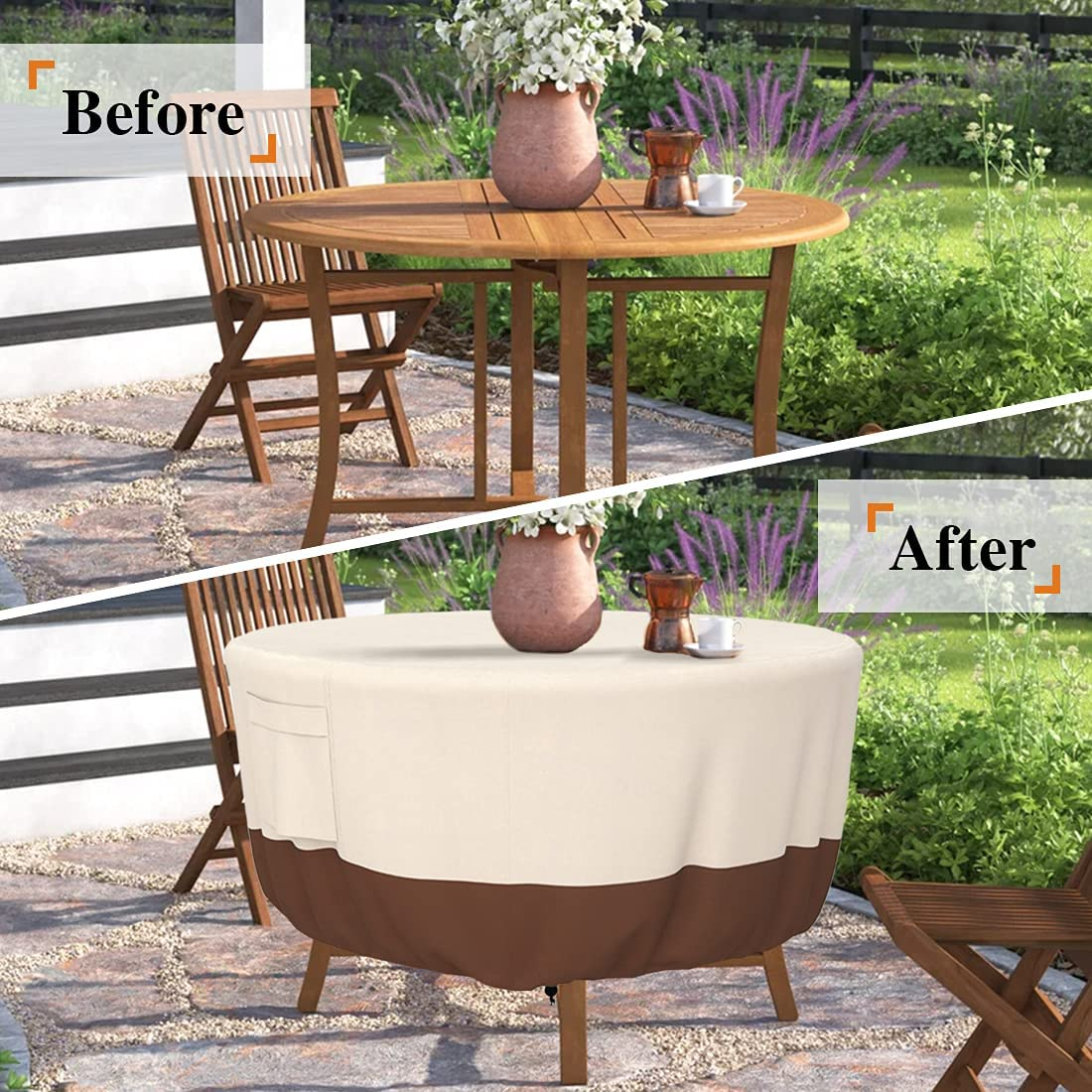 Buy Patio Furniture Covers, Heavy Duty Round Patio Table Cover ...