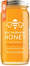 Bee Harmony American Raw Orange Blossom Honey, 12 Ounce