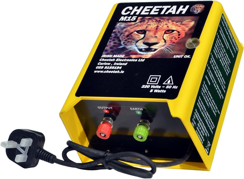 10 Acre Electric Fence Energiser  Cheetah M15, 2 YEAR WARRANTY