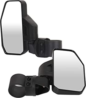"ECCPP 1.6"" - 2"" Cage Bar Break Away UTV Rear View Mirror Driver Side and Passenger Side for Polaris Ranger RZR 800 900 1000 900 S Turbo Kawasaki Mule Can Am X3, X3 900, X3 XDS, X3 XRS"