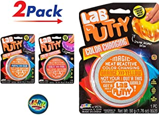 JA-RU Lab Putty Color Changing Heat Sensitive (Pack of 2) and 1 Bouncy Ball Item #9576-2