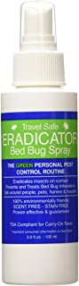 Travel Safe Bed Bug ERADICATOR Spray 2-Pack, Non-Toxic, Ready to Use Travel Size Bed Bug and Insect Spray - 3oz
