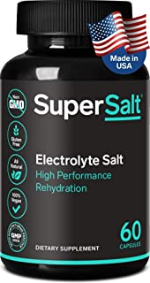 Keto Electrolyte Supplement, Salt Replacement Tablets for Rapid Oral Rehydration & Post Workout Recovery, Magnesium, Zinc, Sodium, Copper | 60 Capsules | Stop Leg Cramps and Restore Energy