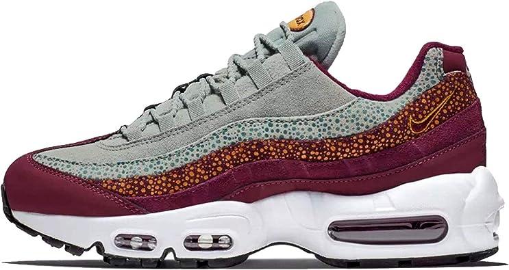 Nike Women's Air Max 95 PRM Bordeaux/Yellow Ochre/Geode Teal 807443-601