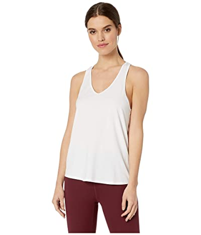 manduka Adorn Twist Back Tank Top (White) Women