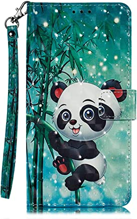 Bear Village  Galaxy 2018 Case  Magnetic Wallet Case with Card Slots and Kickstand Feature  Leather Shock Absorbing Cover for Samsung Galaxy 2018  Panda