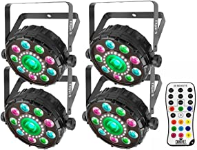 (4) Chauvet DJ FXpar 9 Dynamic and Compact Multi-Effect Fixture with (1) IRC-6 Remote Control