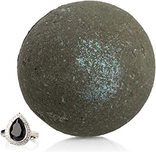 charcoal bath bomb with ring