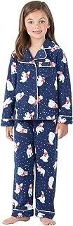 PajamaGram Big Girls Fleece Button-Front Pajama Set