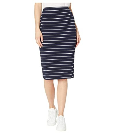 Vince Camuto Stencil Stripe Tube Skirt (Classic Navy) Women