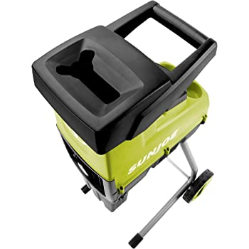 Sun Joe CJ603E 15-Amp 1.7-Inch Cutting Diameter Electric Silent Wood Chipper/Shredder, Green