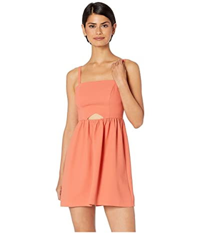 BCBGeneration Cocktail Front Cut Out Flutter Woven Dress (Canyon Clay) Women