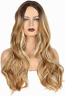Girl's Long Pear Roll Big Wave Wig Brown Black Gradient Gray/golden Wig Mechanism Rose Net Simulation Wig Diy Beautiful Ha...