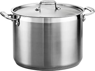 Tramontina 80120/001DS Gourmet Stainless Steel Covered Stock Pot, 16-Quart