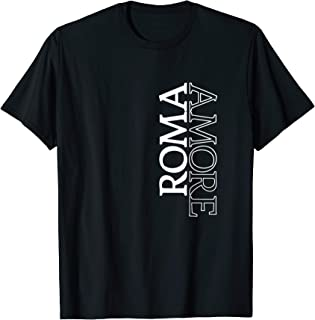 Roma Amore T-shirt Rome Love Italy Typography Souvenir