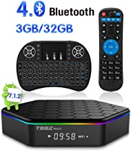 Android TV Box T95Z Plus Android 7.1.2 TV Box 3G+32G Amlogic S912 Octa-Core, 2.4/5.8G Dual-Band Wi-Fi/10-1000M LAN 64Bit BT4.0 H.265 UHD 4K Android Box with Mini Wireless Keyboard & Remote