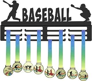 GENOVESE Baseball Medals Hanger,Medal Display Rack for Baseball Player,Sport Trophies Medal Hangers,Black Metal Holder,Awards Holders
