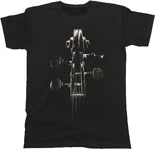 Jonny Cotton Violin Headstock Unisexo Fit T-Shirt para Hombre y Mujeres Camiseta Mens & Ladies Music Instrument Festival Band