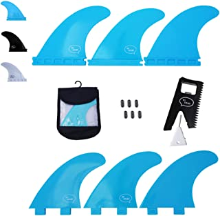 Ho Stevie! Fiberglass Reinforced Polymer Surfboard Fins - Thruster (3 Fins) FCS or Futures Sizes, with Fin Bag, Screws, Wa...