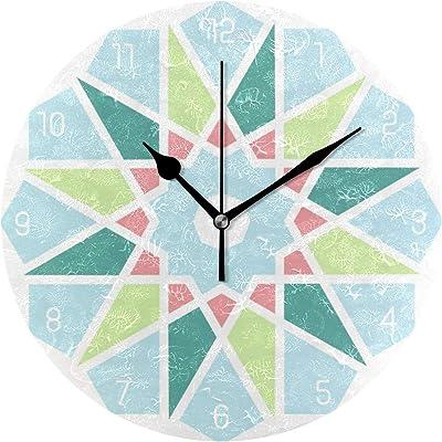 壁掛け時計 部屋飾り 掛け時計 静か 静音 振り子時計 子供 祝い 誕生日 雑貨 見やすい おしゃれ 壁飾り オーナメントの時計-薄い色の空色